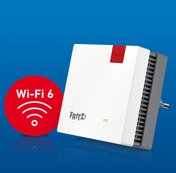 Fritz!WLAN Repeater 1200 AX (WiFi 6) angekündigt.