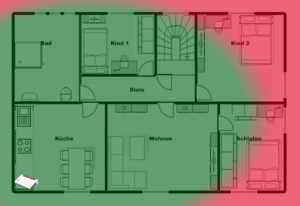 W-Lan Problem: FritzBox in der Ecke der Wohnung!